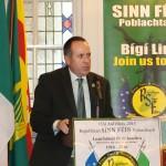 The President of Sinn Féin Poblachtach Des Dalton