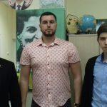 Александр Ионов с молодыми антиглобалистами