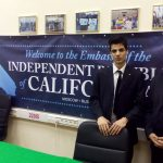 The AGM activist Sani Salman and the leader of California independence campaign Louis Marinelli
